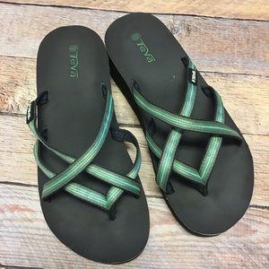 Teva flip flop sandals women's 7